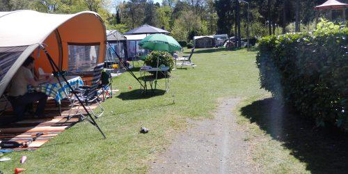 Autovrije kampeerplaatsen, zicht vanaf plaats 234, camping de Kienehoef