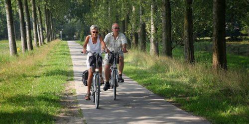 Fietsen door het Brabant  landschap, camping de Kienehoef