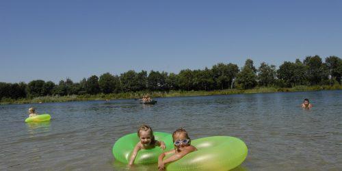 Waterpret in het recreatiemeer op de Kienehoef