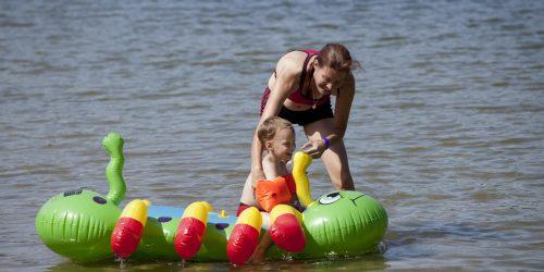 Genieten in het meer op de Kienehoef