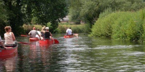 Kanoën op de Dommel nabij de Kienehoef